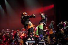 国家中国的舞蹈演员 免版税库存照片