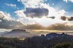国家公园撒克逊人瑞士 图库摄影