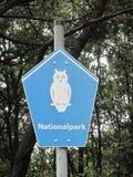 国家公园标志- Nationalpark 库存照片