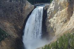 国家公园瀑布黄石 免版税库存照片