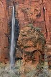 国家公园瀑布zion 库存照片