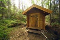 国家公园瑞典洗手间 库存照片