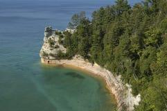 国家公园被生动描述的岩石 图库摄影