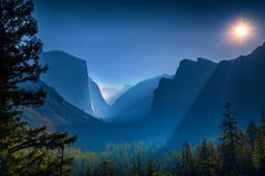 国家公园谷优胜美地 免版税库存照片
