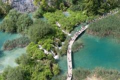 国家公园: Plitvice湖 图库摄影