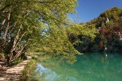 国家公园plitvice 免版税库存照片