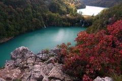 国家公园plitvice 图库摄影