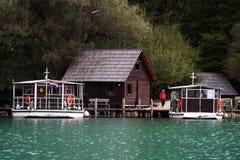 国家公园plitvice 库存照片