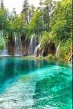 国家公园plitvicke瀑布 图库摄影