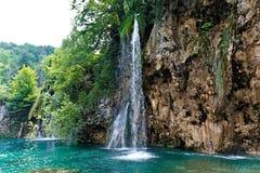 国家公园plitvicke瀑布 库存照片