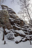 国家公园Stolby克拉斯诺亚尔斯克 库存图片
