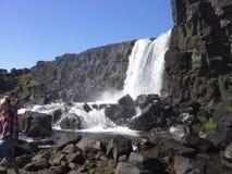 国家公园Thingvellir冰岛 图库摄影
