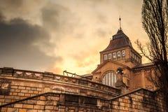 日落的国家博物馆 免版税库存照片