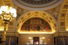 国家博物馆的被绘的曲拱 免版税库存照片