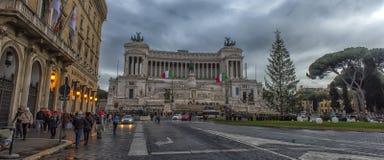 国家历史文物大厦在罗马 免版税库存照片