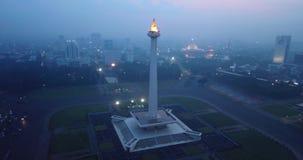 国家历史文物雅加达空中英尺长度  股票视频