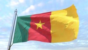 国家喀麦隆的编织的旗子 皇族释放例证