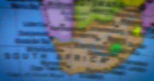 国家地区南非的地图 股票视频