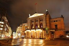 国家奥斯陆剧院 免版税库存照片