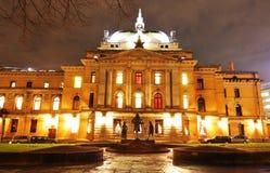 国家奥斯陆剧院 免版税库存图片
