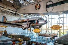 国家宇航博物馆史密森学会-华盛顿, D的内部 C ,美国 免版税图库摄影