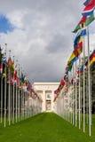 国家宫殿回家联合国办公室在日内瓦,瑞士 库存图片