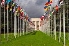 国家宫殿回家联合国办公室在日内瓦,瑞士 免版税库存图片