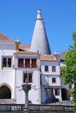 国家宫殿葡萄牙sintra 库存图片
