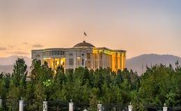 国家宫殿,塔吉克斯坦的总统的住所,在杜尚别 图库摄影