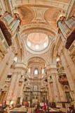 国家宫殿- Mafra大教堂  图库摄影