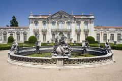 国家宫殿queluz 免版税库存图片