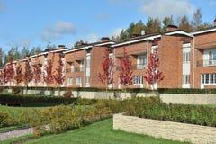 国家层住宅块砖房子 免版税库存照片