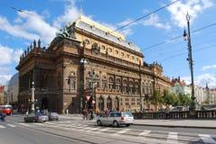 国家布拉格剧院 免版税库存图片