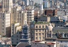 国家建设和布宜诺斯艾利斯香港大会堂塔鸟瞰图-街市布宜诺斯艾利斯,阿根廷的行政官委员会  免版税库存照片