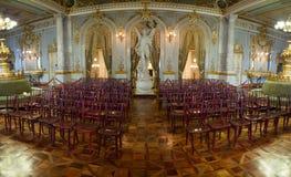国家戏院全景内部在圣何塞火山 免版税库存照片