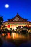 国家戏院和光华池塘,台北,台湾 免版税库存图片