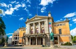 国家戏院在奥斯陆-挪威 免版税库存图片