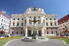 国家戏院在布拉索夫 免版税图库摄影