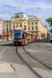 国家戏院正方形的场面,在布拉索夫 库存图片