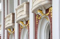 国家戏院的一个建筑细节在索非亚, Bulgar 库存图片