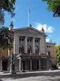 国家戏院,奥斯陆,挪威 图库摄影