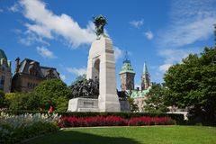 国家战争纪念品在渥太华 库存图片