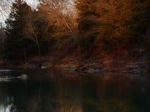 国家旁边小河 库存图片