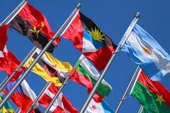 国家旗子环球 库存图片