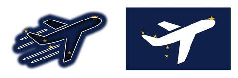 国家旗子-飞机-阿拉斯加 库存图片