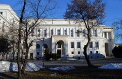 国家歌剧院议院,布加勒斯特,罗马尼亚的侧立面 库存图片