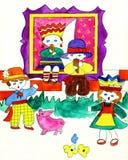 国家波儿地克的儿童的服装 免版税图库摄影