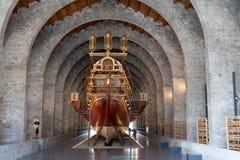 国家海洋博物馆展出,巴塞罗那 免版税库存照片
