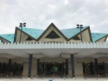 国家清真寺的内部射击,是一个清真寺在吉隆坡,马来西亚 库存照片