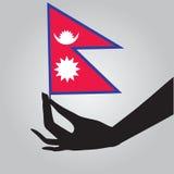 国家的旗子的尼泊尔 向量例证